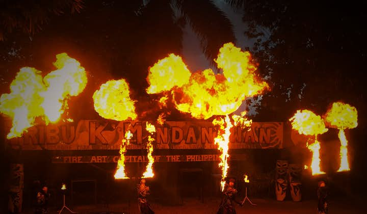 Fire dance presentation from Tribu K'Mindanaon at night
