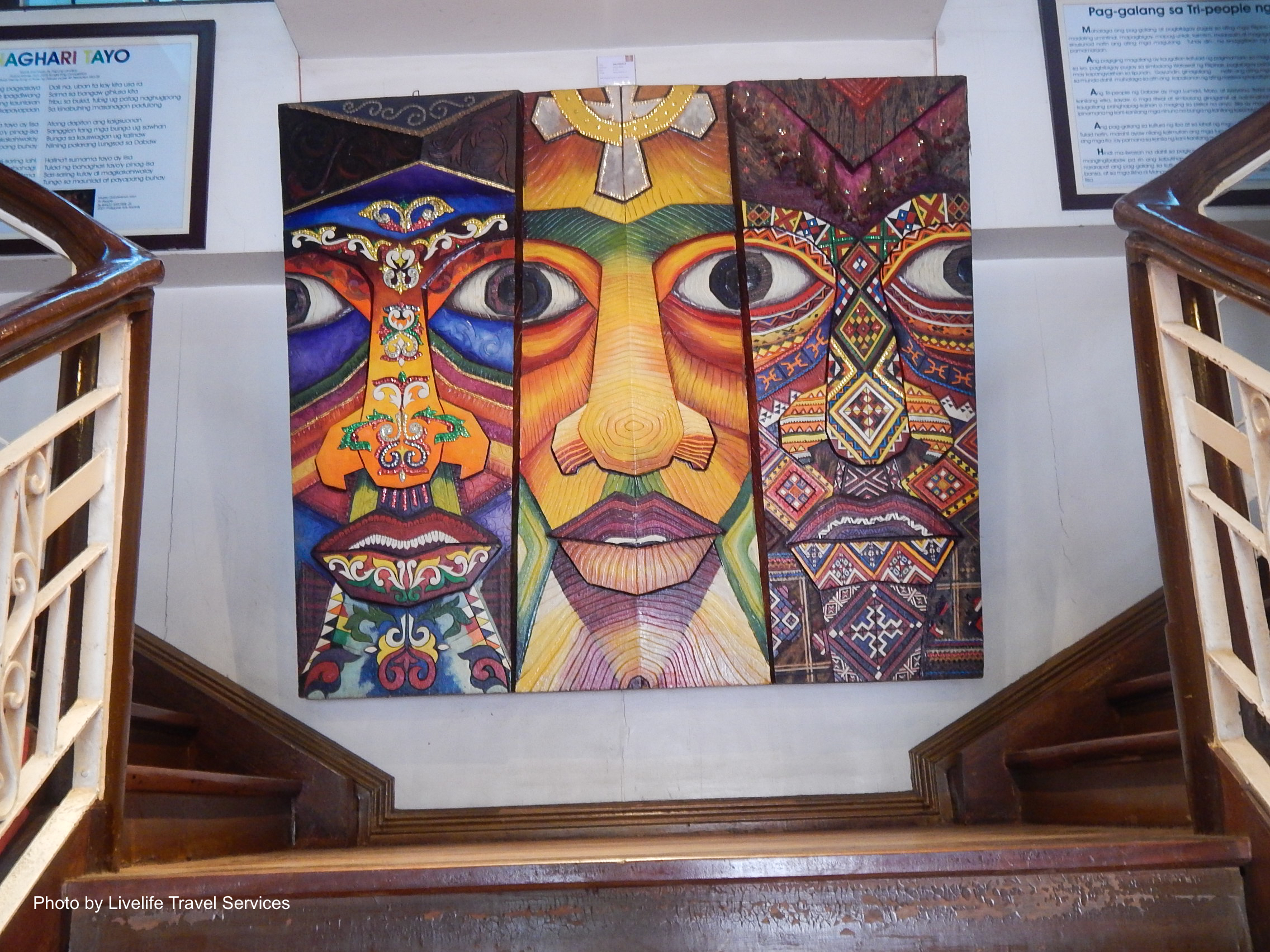 A colorful painting which can be seen in the stairs of Museo Dabawenyo