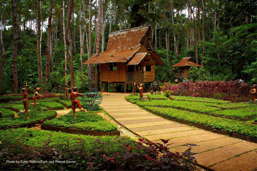 A hut inside Eden Nature Park in Davao