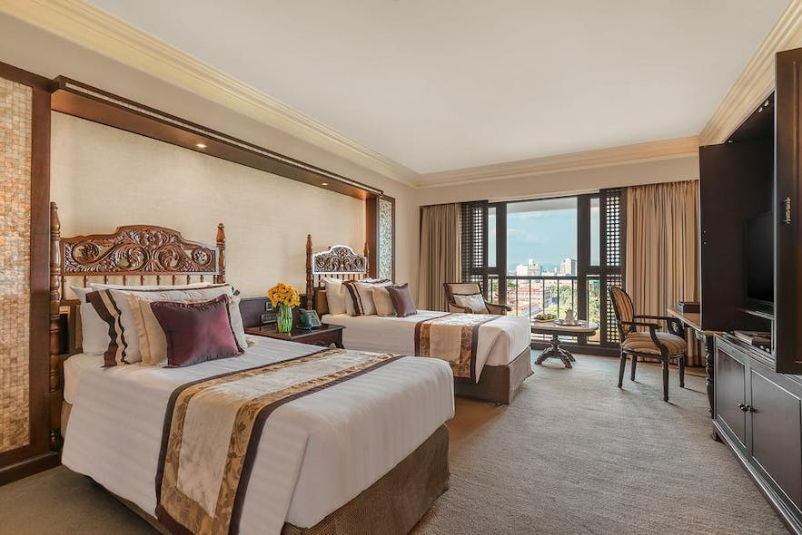 A superior deluxe room in The Manila Hotel