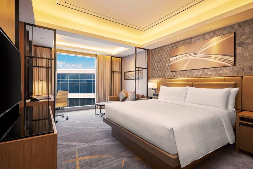 A guest room in Hilton Manila