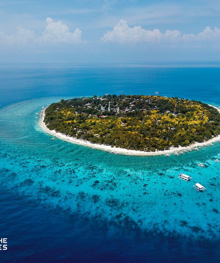 Aerial view of Balicasag Island