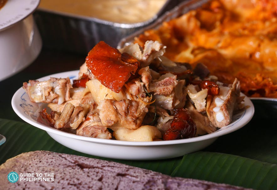 Chopped lechon in Cebu