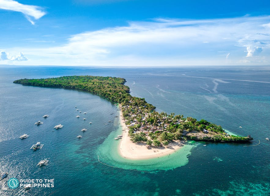 Aerial view of Camotes Island in Cebu