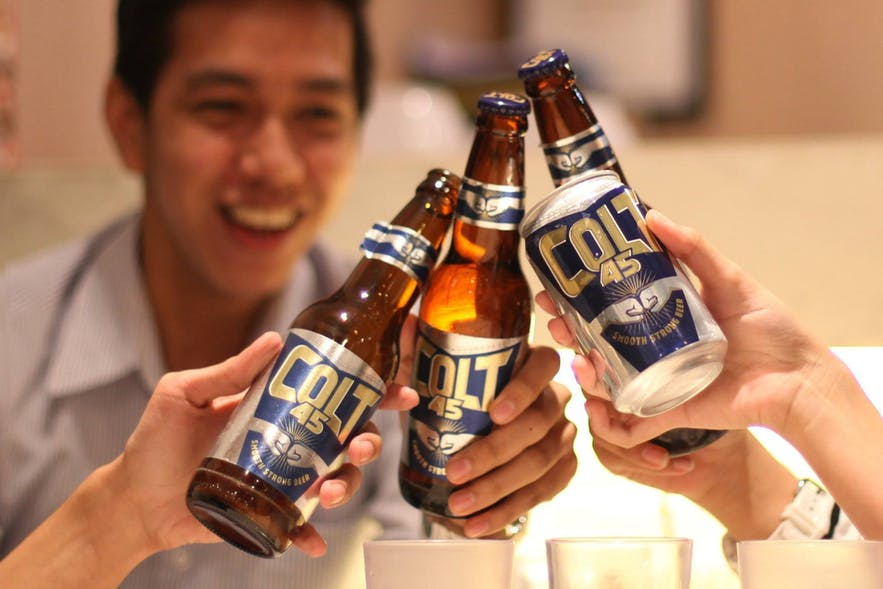 Colt 45 beer in the Philippines