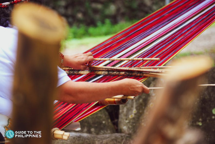 The process of weaving in Baguio