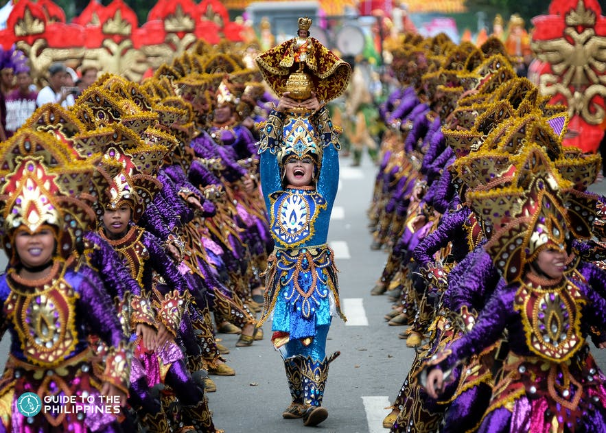 Colorful performance during the Sinulog Festival in Cebu