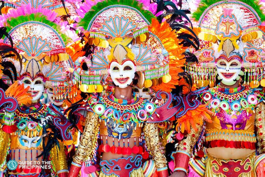 Colorful Masskara Festival in Bacolod City