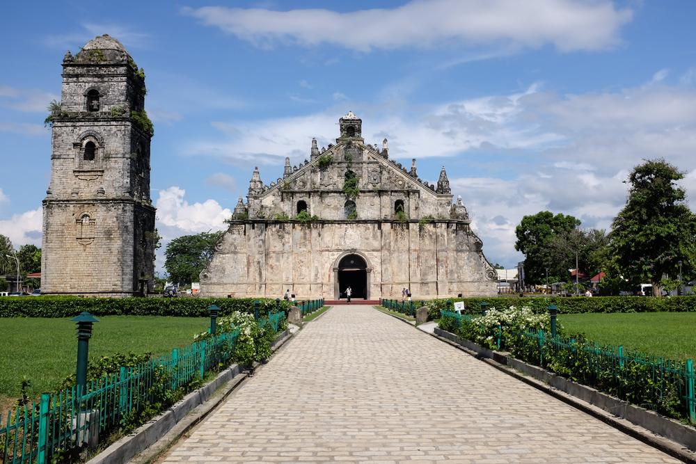 Beautiful facade of Paoay Church in Ilocos