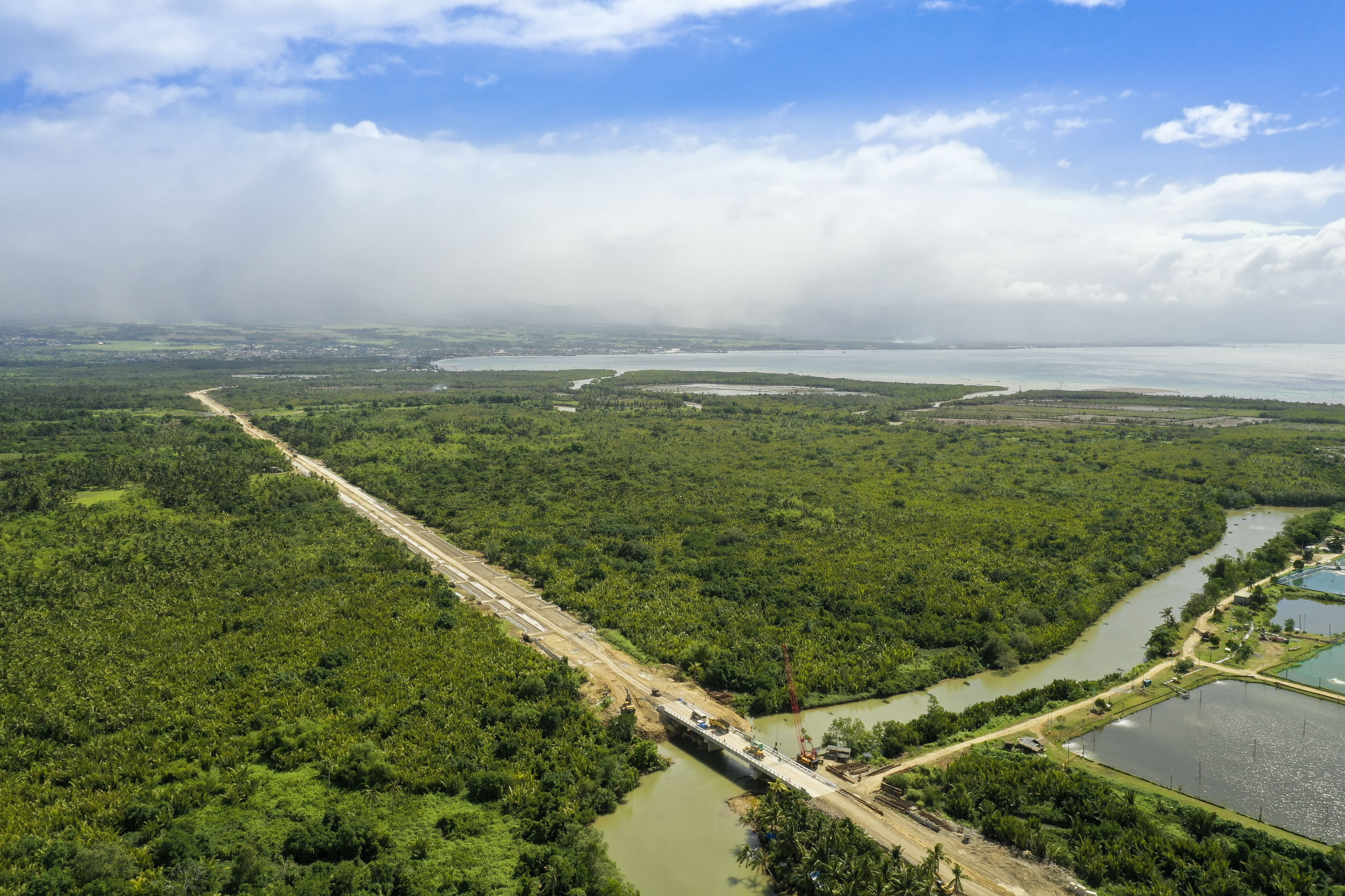 Aerial view of a bridge in Ormoc
