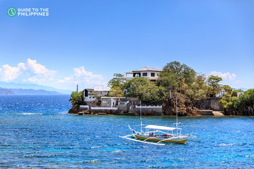 A boat used in island hopping in Batangas