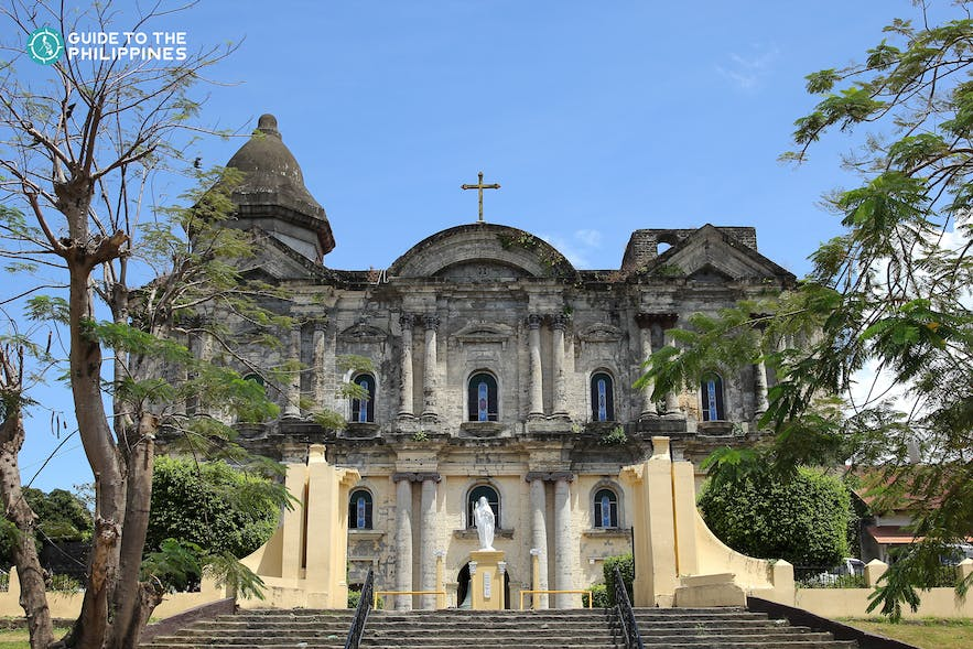 Facade of the charming Taal Basilica in Batangas