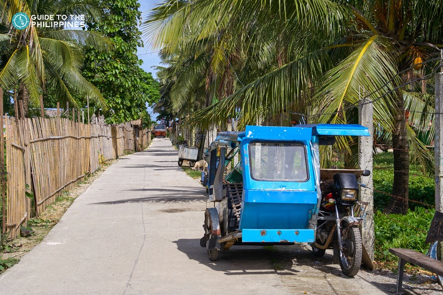 Tricycle, a local transportation in the Philippines