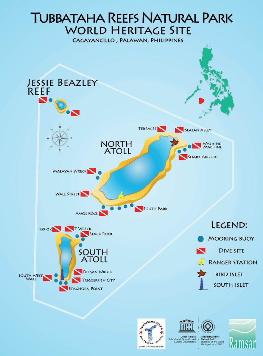 Map of Tubbataha Reef
