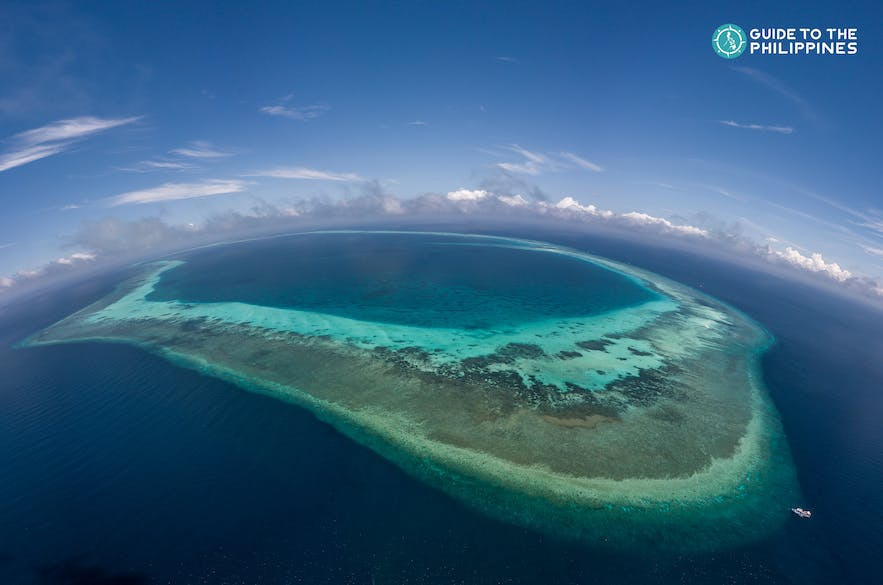 Aerial view of North Atoll in Tubbataha Reef