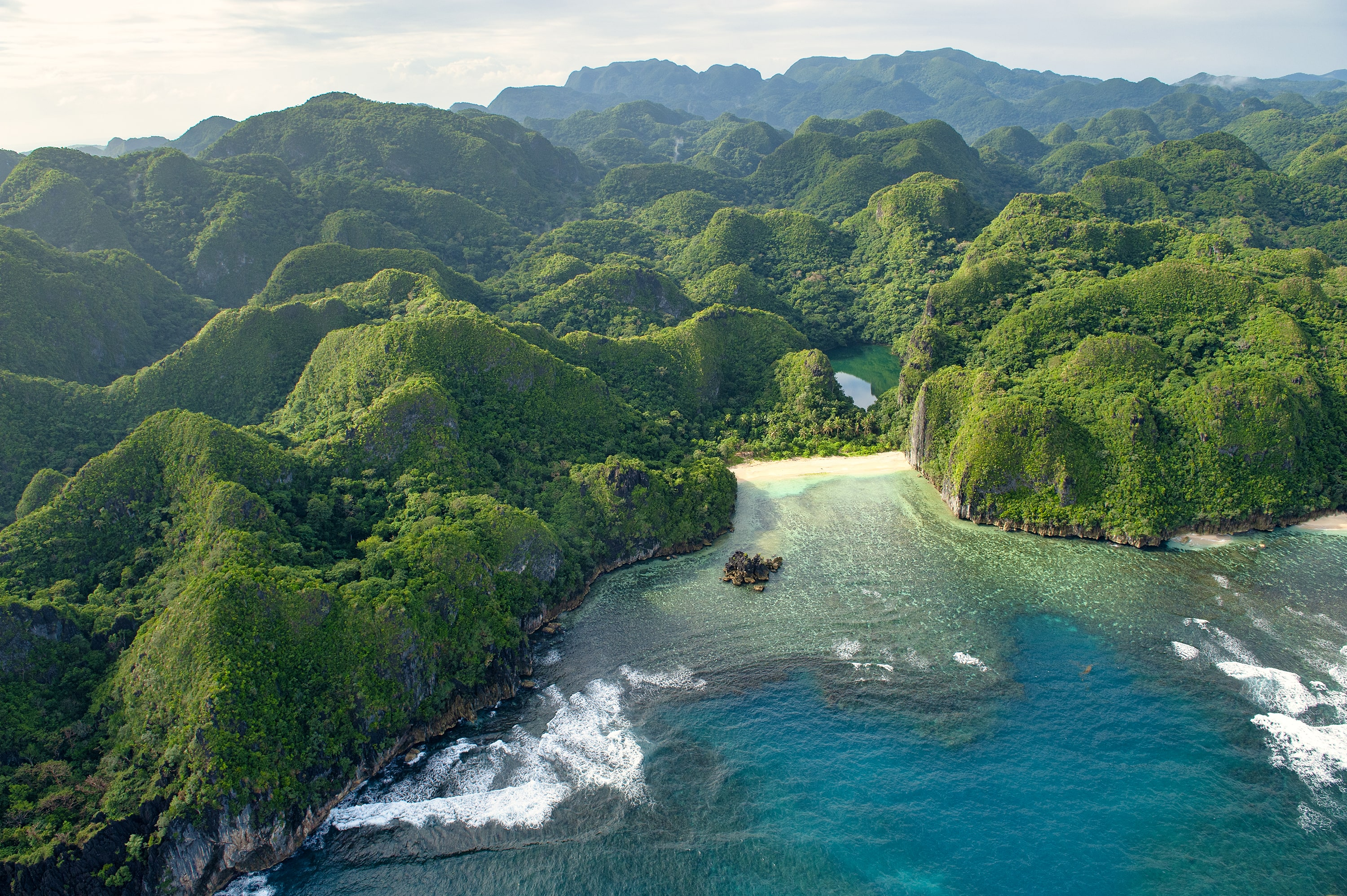 Caramoan Island seen from above