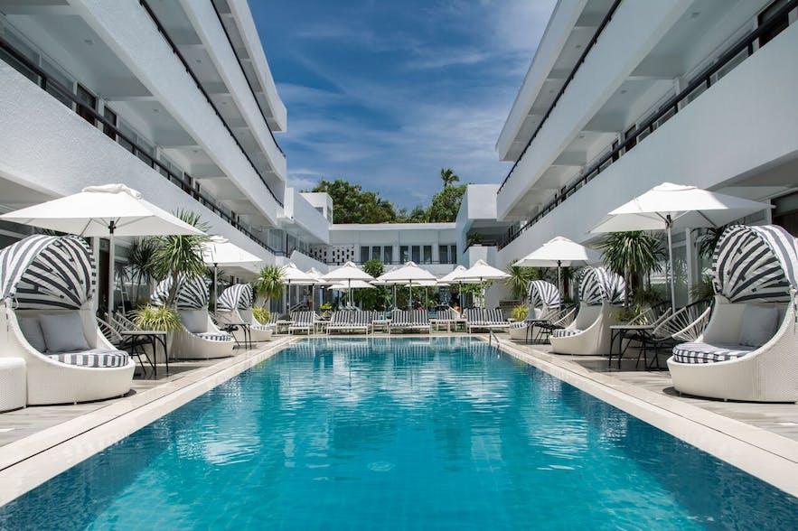 Pool area of Coast Boracay