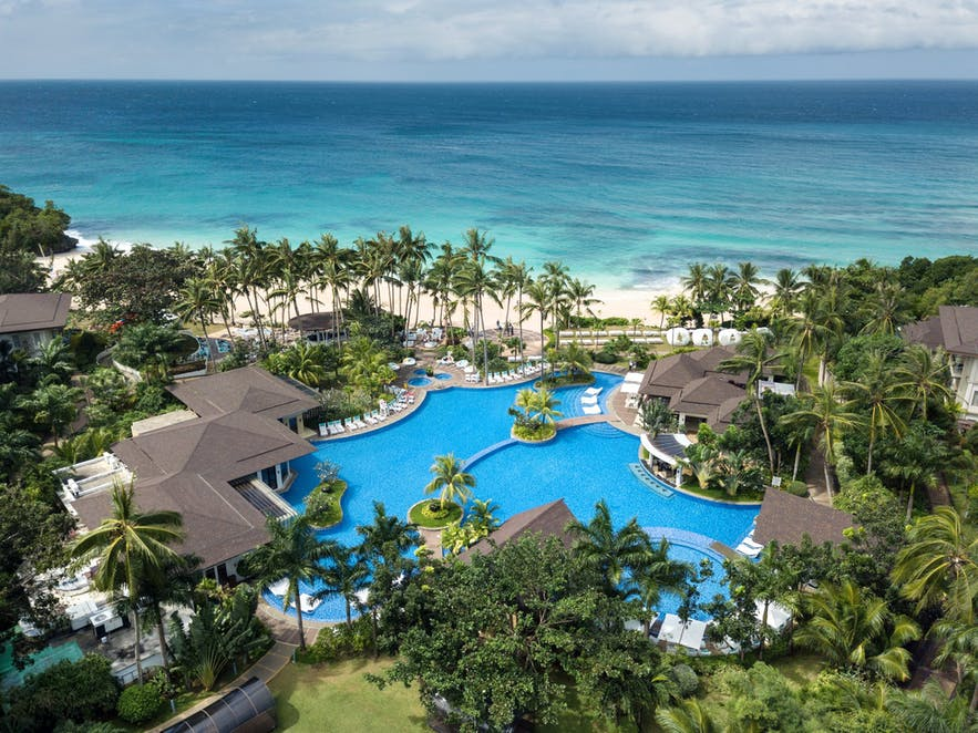 Aerial view of Movenpick Resort and Spa Boracay