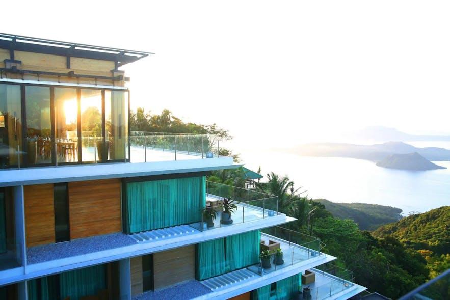 Breathtaking Taal Lake view from Escala Tagaytay