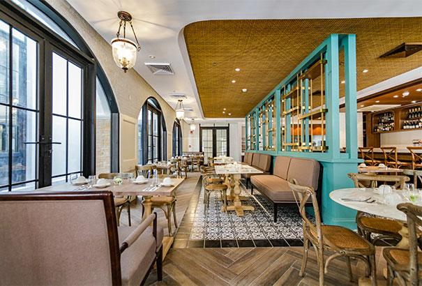 The beautiful restaurant at Feliz Hotel Boracay
