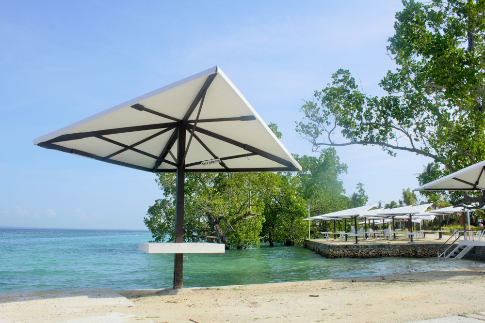 Beach umbrella in a beach in Davao