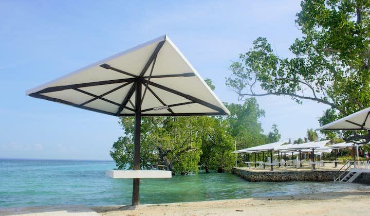 Beach umbrella in a beach in Davao