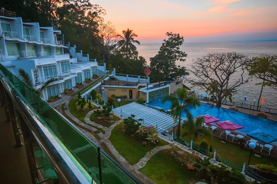 Sunset view in Anilao Awari Bay Resort