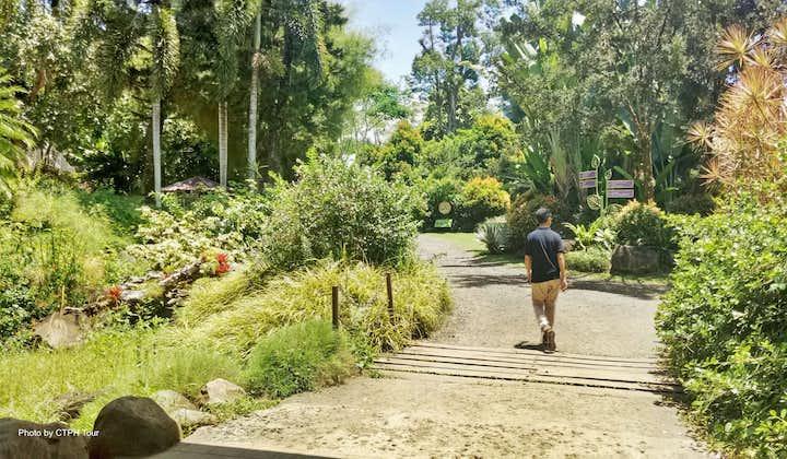 A guy walking at Malagos Garden Resort in Davao