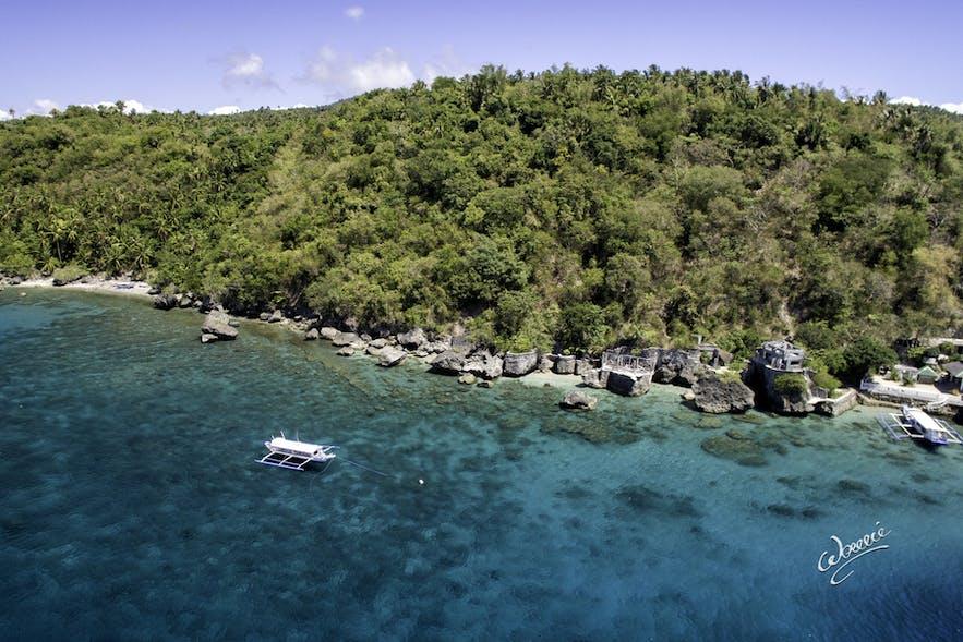 Aerial view of Verde Island