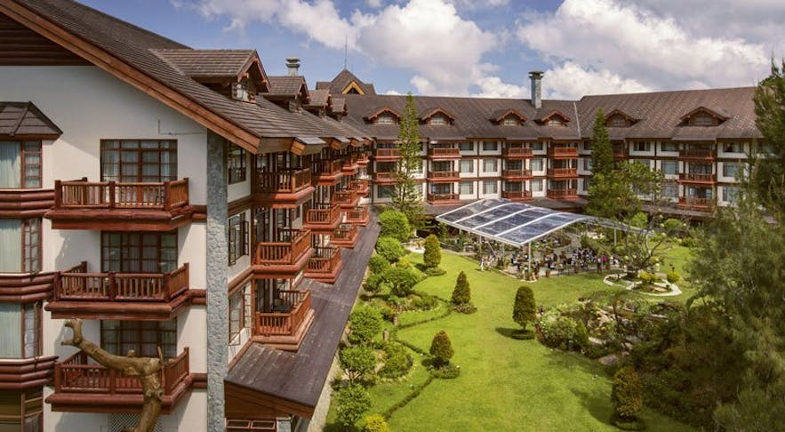 Wide view of The Manor at Camp John Hay in Baguio