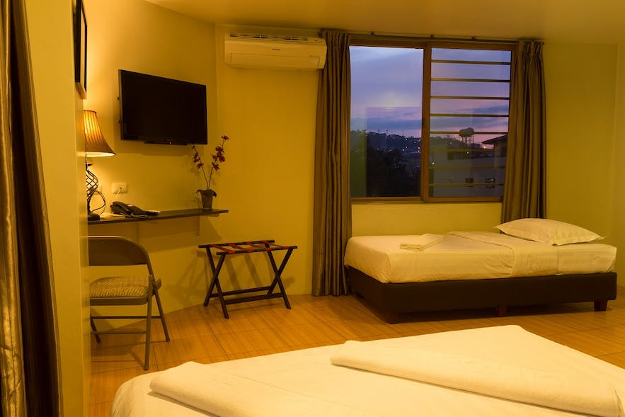 A room of City Center Hotel with overlooking view of Baguio