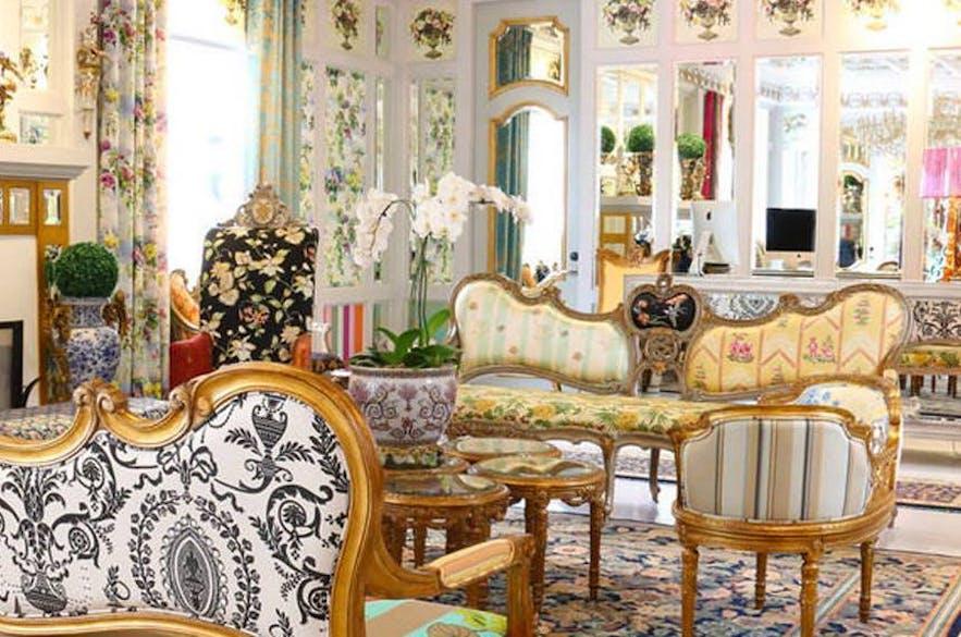 French-inspired design inside Kamiseta Hotel in Baguio