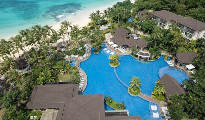 Aerial view of Movenpick Resort and Spa Boracay Beach and Pool