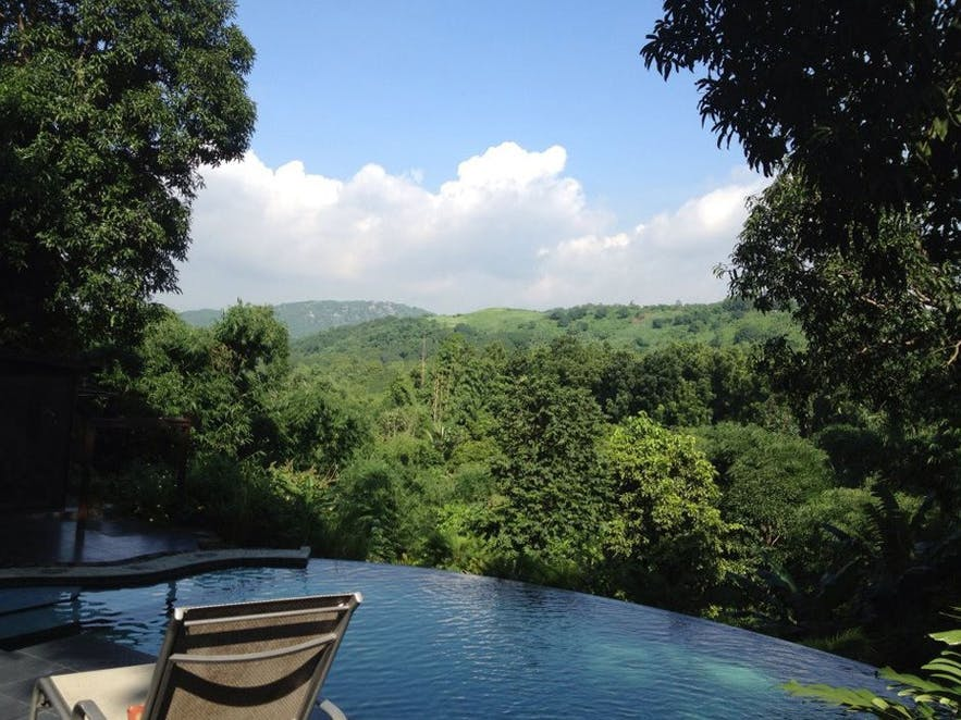 Wonderful overlooking view in Flor's Garden in Antipolo