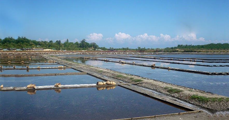 Salt-making farm in Pangasinan