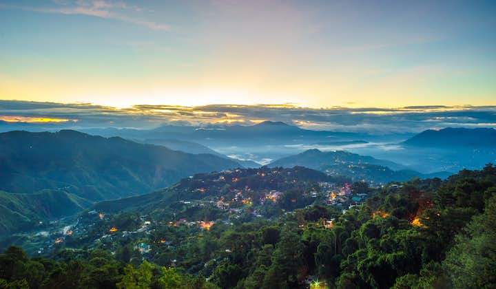 Beautiful view of Baguio from Mines View Park