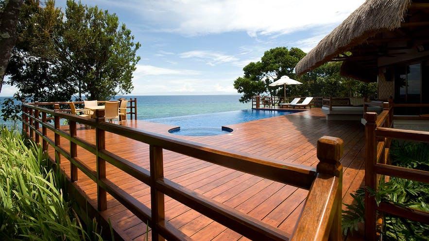 Wonderful ocean view from the pool area in Eskaya Beach Resort and Spa