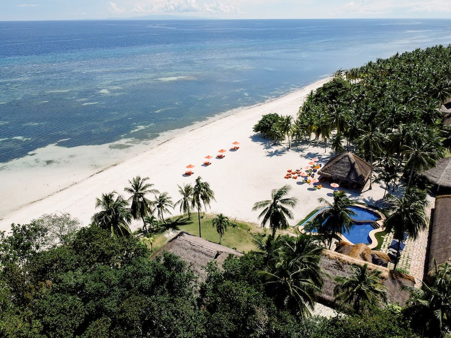 Aerial view of the beautiful South Palms Resort in Panglao Bohol
