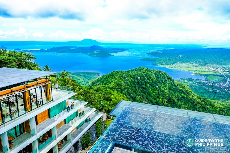 Beatiful view of Tagaytay from a hotel