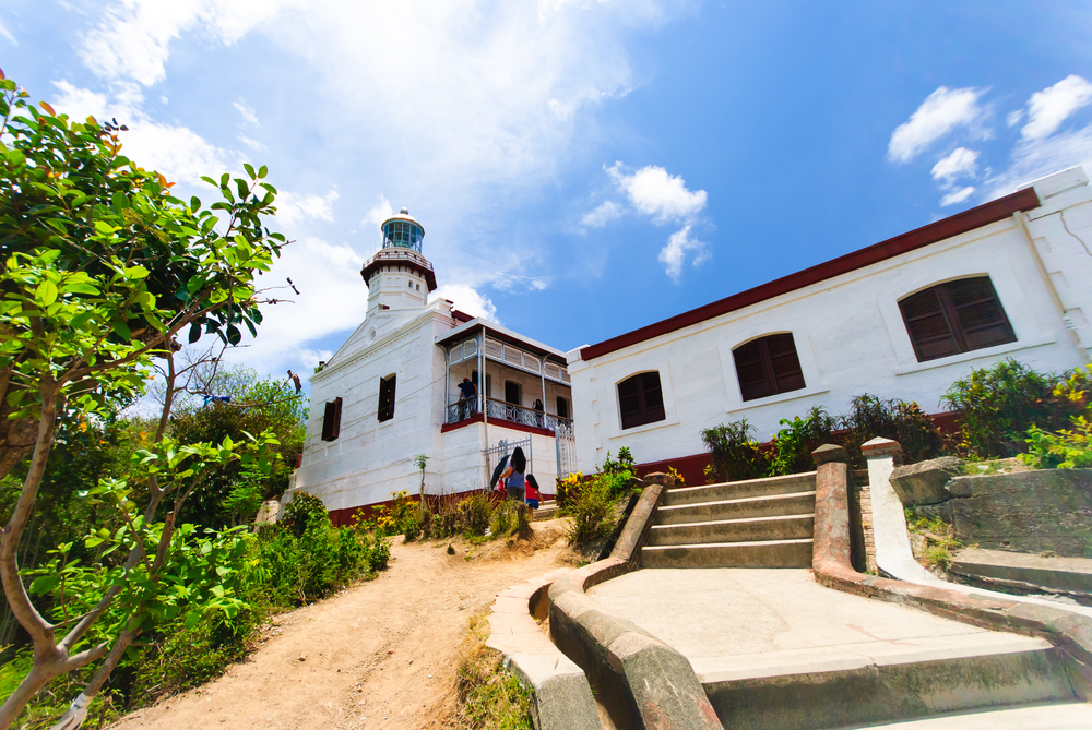 Entrance to the Cape Bojeador Lighthouse