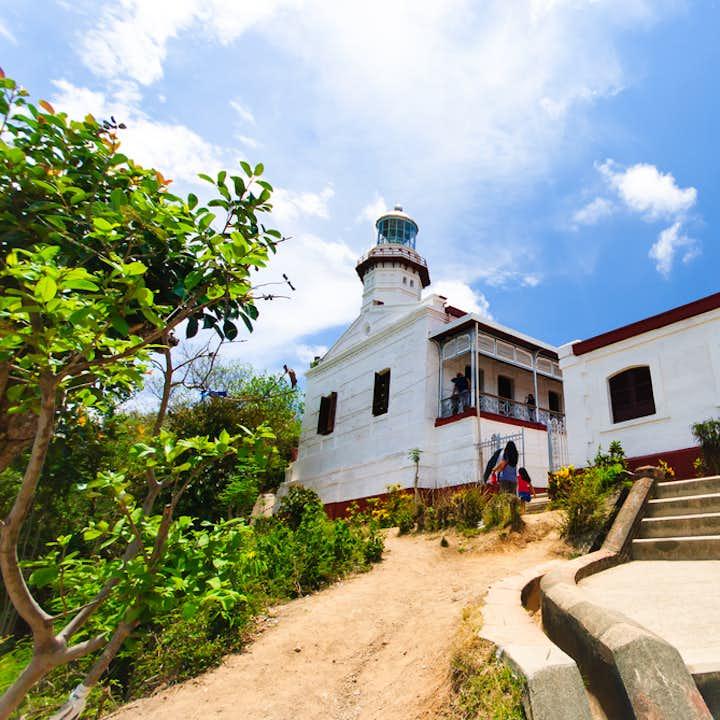 Entrance to the Cape Bojeador Lighthouse