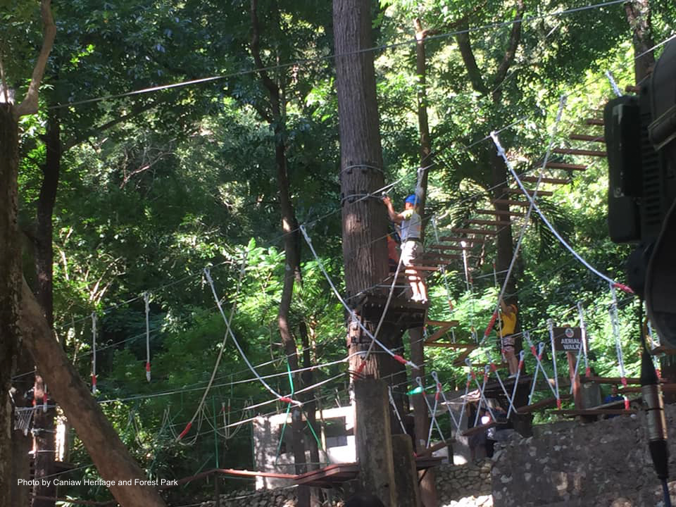 One of the many obstacle courses in Caniaw Heritage and Forest Park in Ilocos