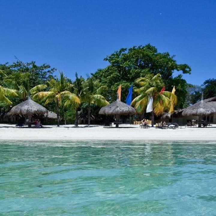 Exclusive beach area of Bluewater Maribago Resort