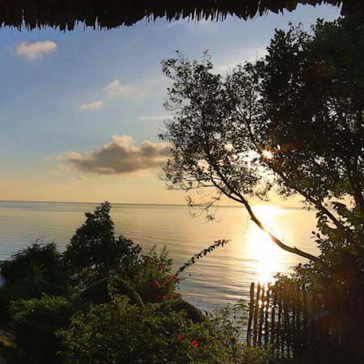 Sunset view at Bluewater Sumilon Resort