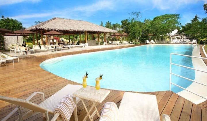 Beautiful pool area in Donatela Resort in Bohol