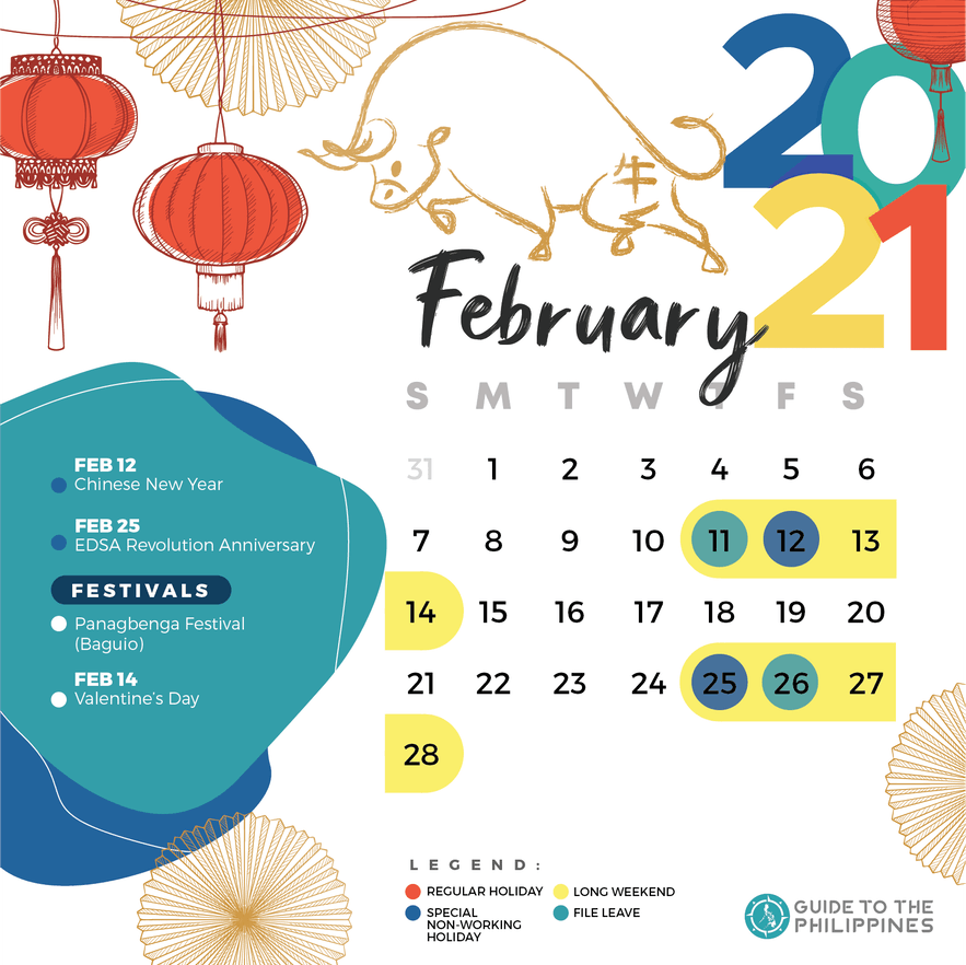 February 2021 holidays and long weekends in the Philippines