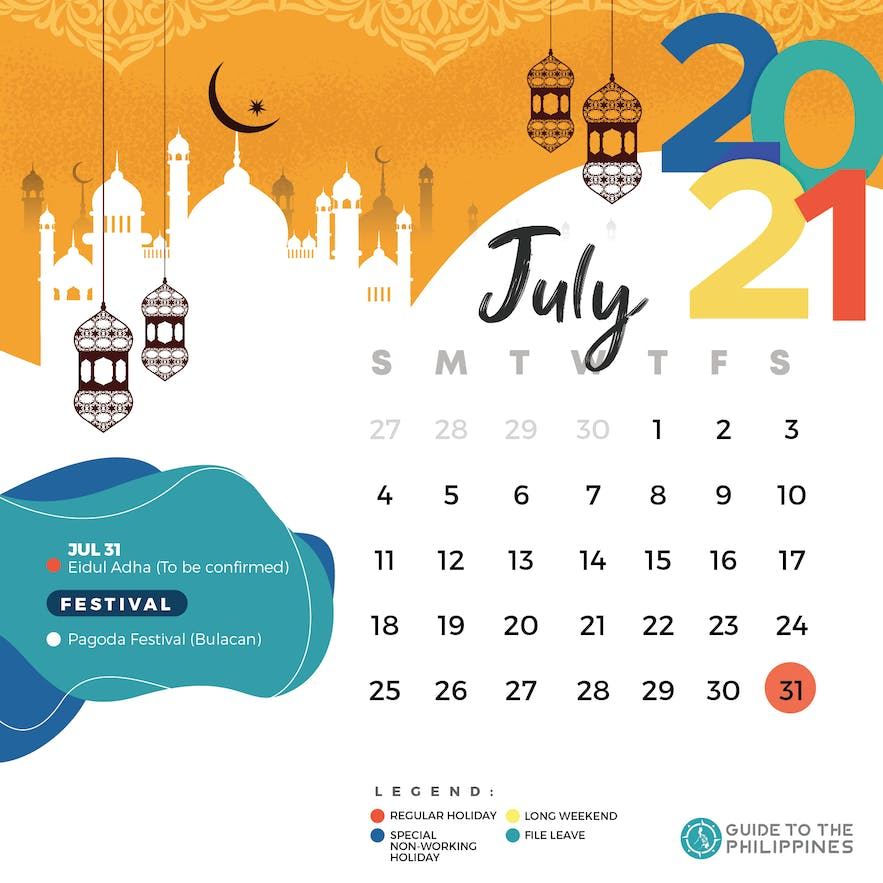 July 2021 holidays and long weekends in the Philippines