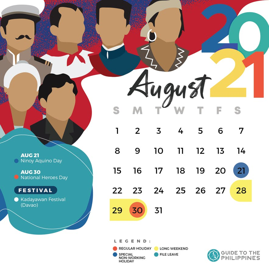 August 2021 holidays and long weekends in the Philippines