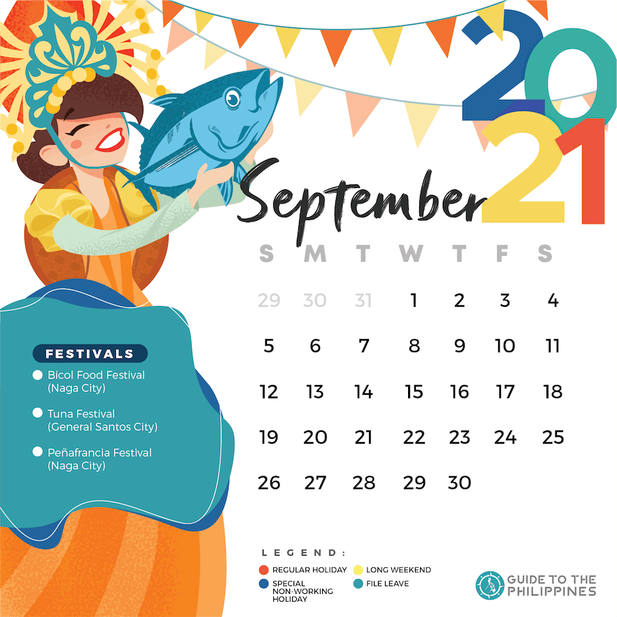 September 2021 holidays and long weekends in the Philippines