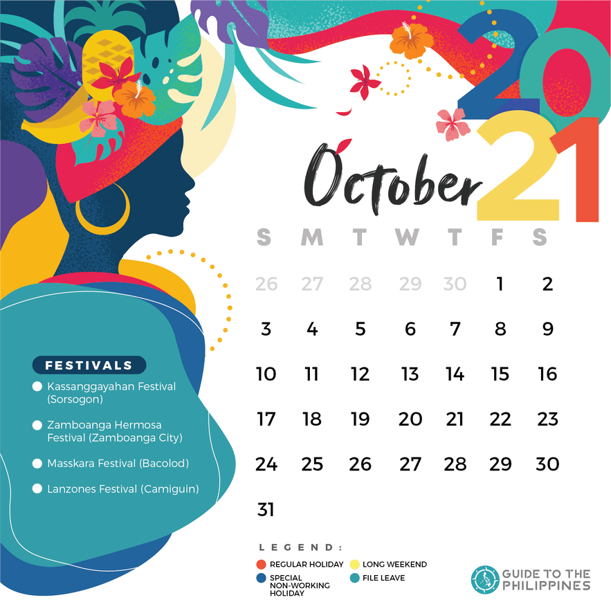 October 2021 holidays and long weekends in the Philippines